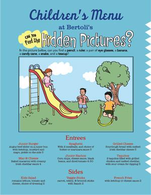 Kids Menu Kid Menu Designs Kid Menu Templates