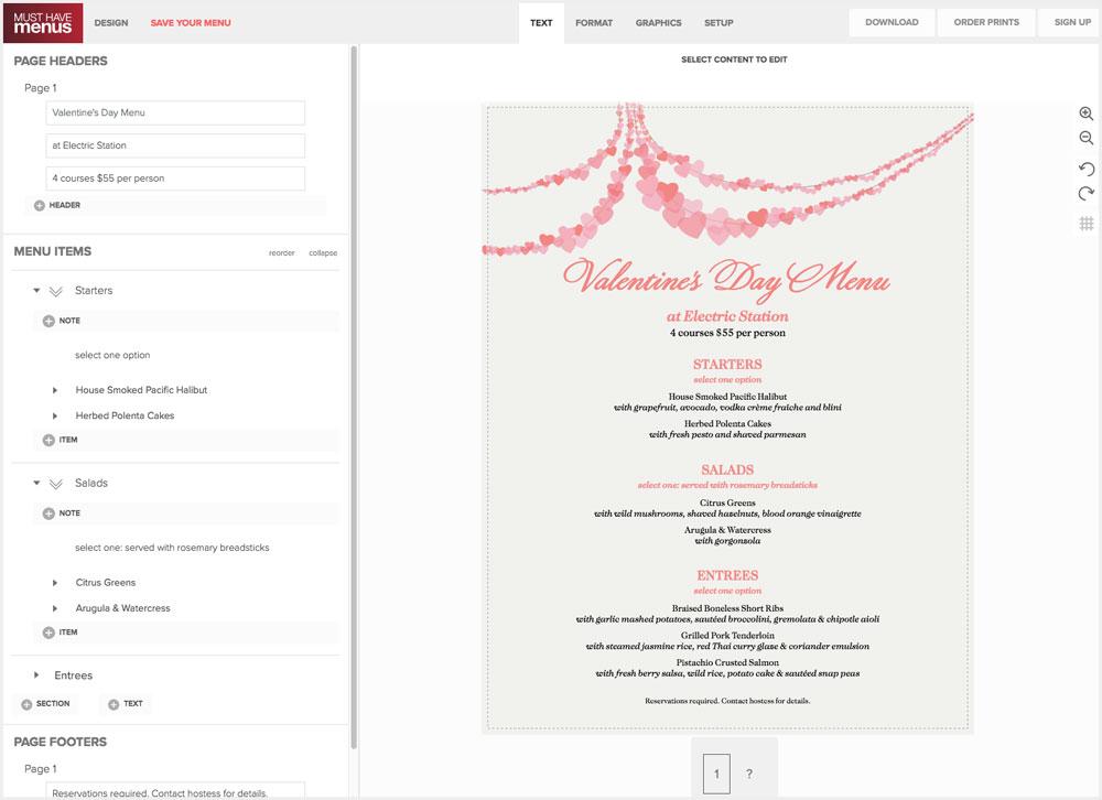 Create Holiday Menus Online Musthavemenus