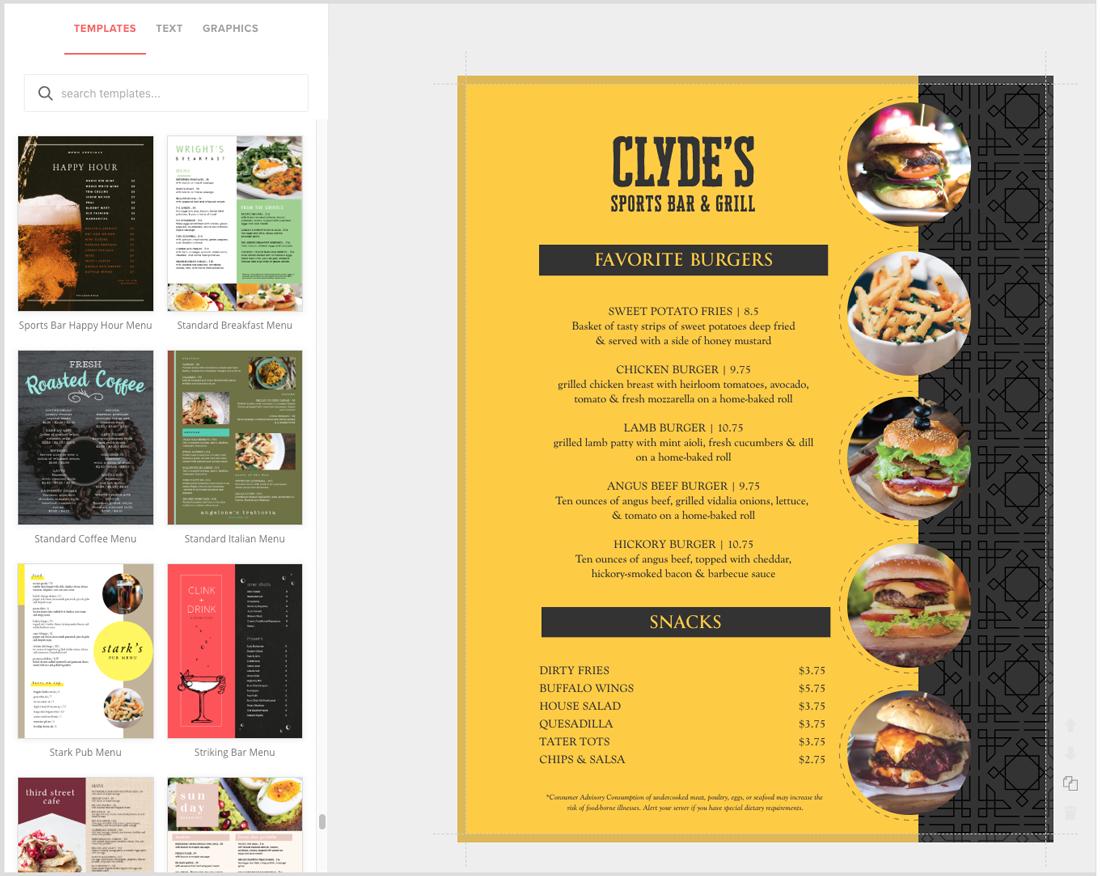 sports bar menu creator full color menus musthavemenus sports bar menu creator full color