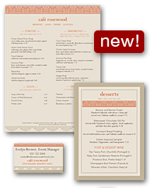 Casual Restaurant Menu Set
