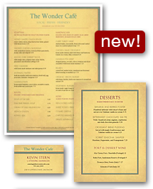 New Cafe Menu Set