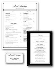 Elegant Fine Dining Menu Set