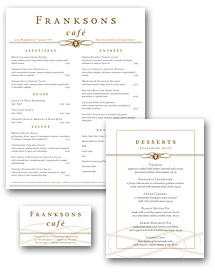 Plaza Cafe Menu Set