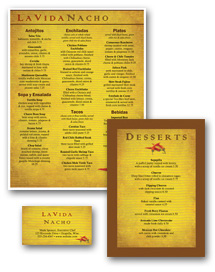 Mexican Food Menu Set