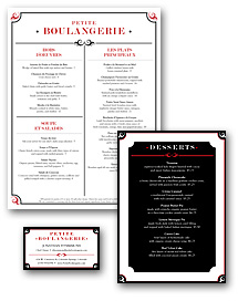 Brasserie Menu Set