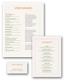 City Wine Bar Menu Set