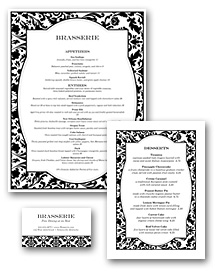 Fine Restaurant Menu Set