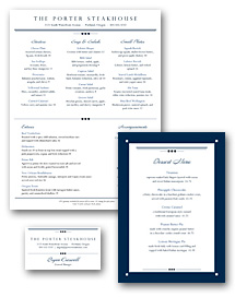 Downtown Menu Set