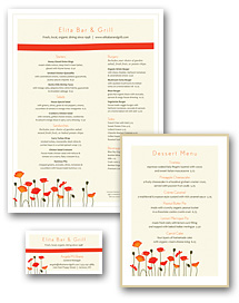 Cafe Bistro Menu Set