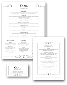 Fine Dining Menu Set