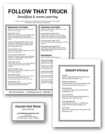 Catering Platter Menu Set