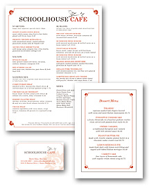 Garden Cafe Menu Set