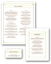 Italian Fine Dining Menu Set