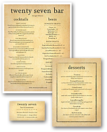 American Beer Menu Set
