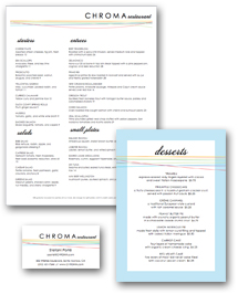 Color Fine Dining Menu Menu Set