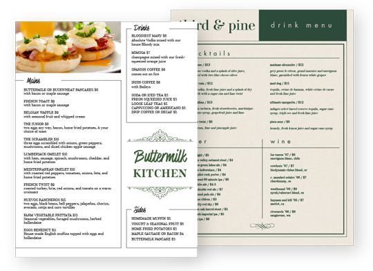 Design Simple Menus