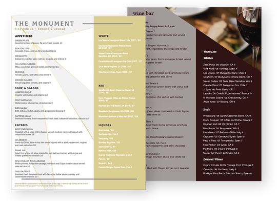 Design Wine Menus
