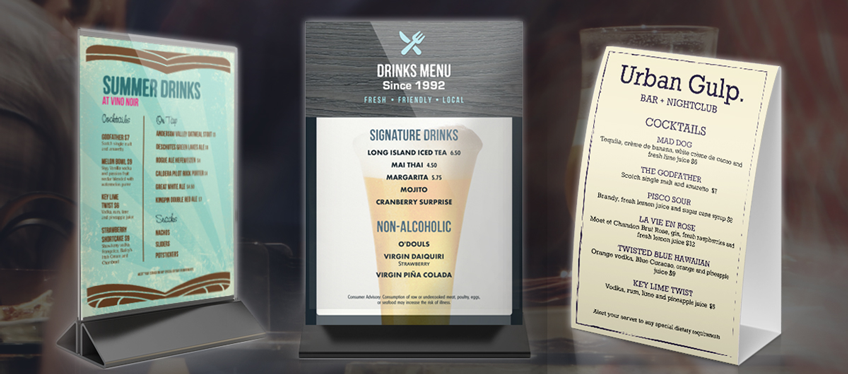 Use a drinks menu when possible