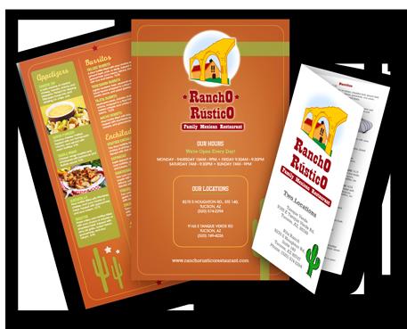 restaurant brochure template