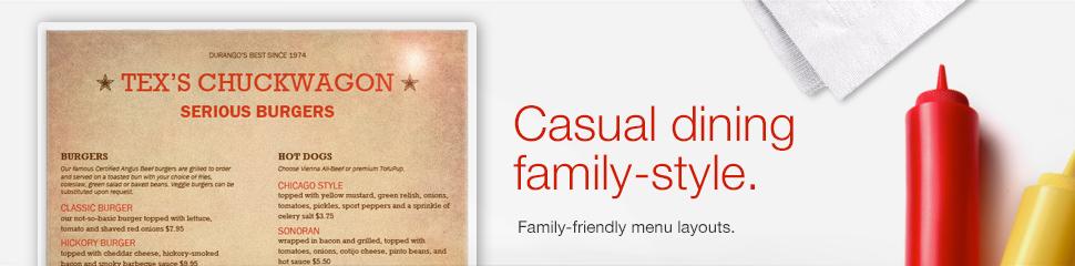 Family Restaurant Menus