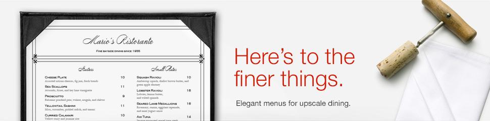 Fine Dining Menus