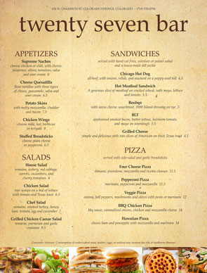 Superb Bar Menus Inside A La Carte Menu Template
