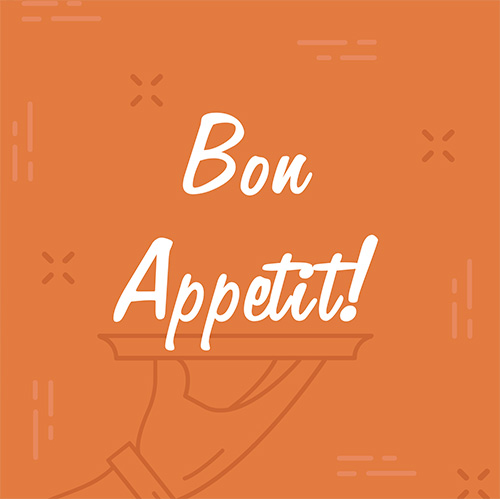Bon Appetit Instagram Post